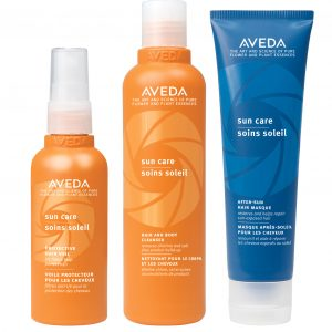 AVEDA SUN CARE Hair & Body Cleanser, Protective Hair Veil, After Sun Masque (10% di sconto)